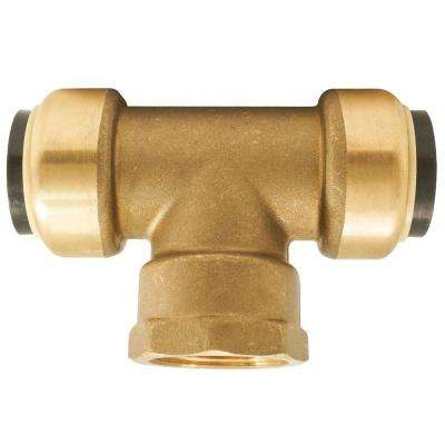 3/4 in. Push-to-Connect x Push-to-Connect x Female Pipe Thread Tee