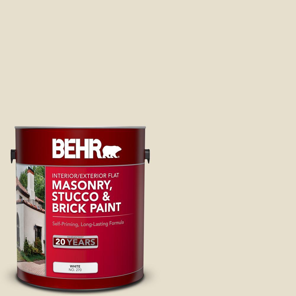 1 gal. #MS-33 Eggshell White Flat Interior/Exterior Masonry, Stucco and Brick Paint