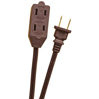 6 ft. 16/2 in. Brown Cube Tap Extension Cord