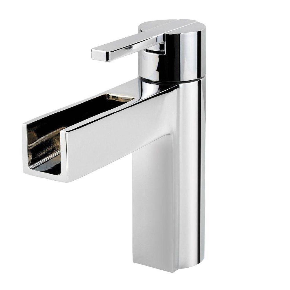 Vega Single Hole Single-Handle Bathroom Faucet in Polished Chrome