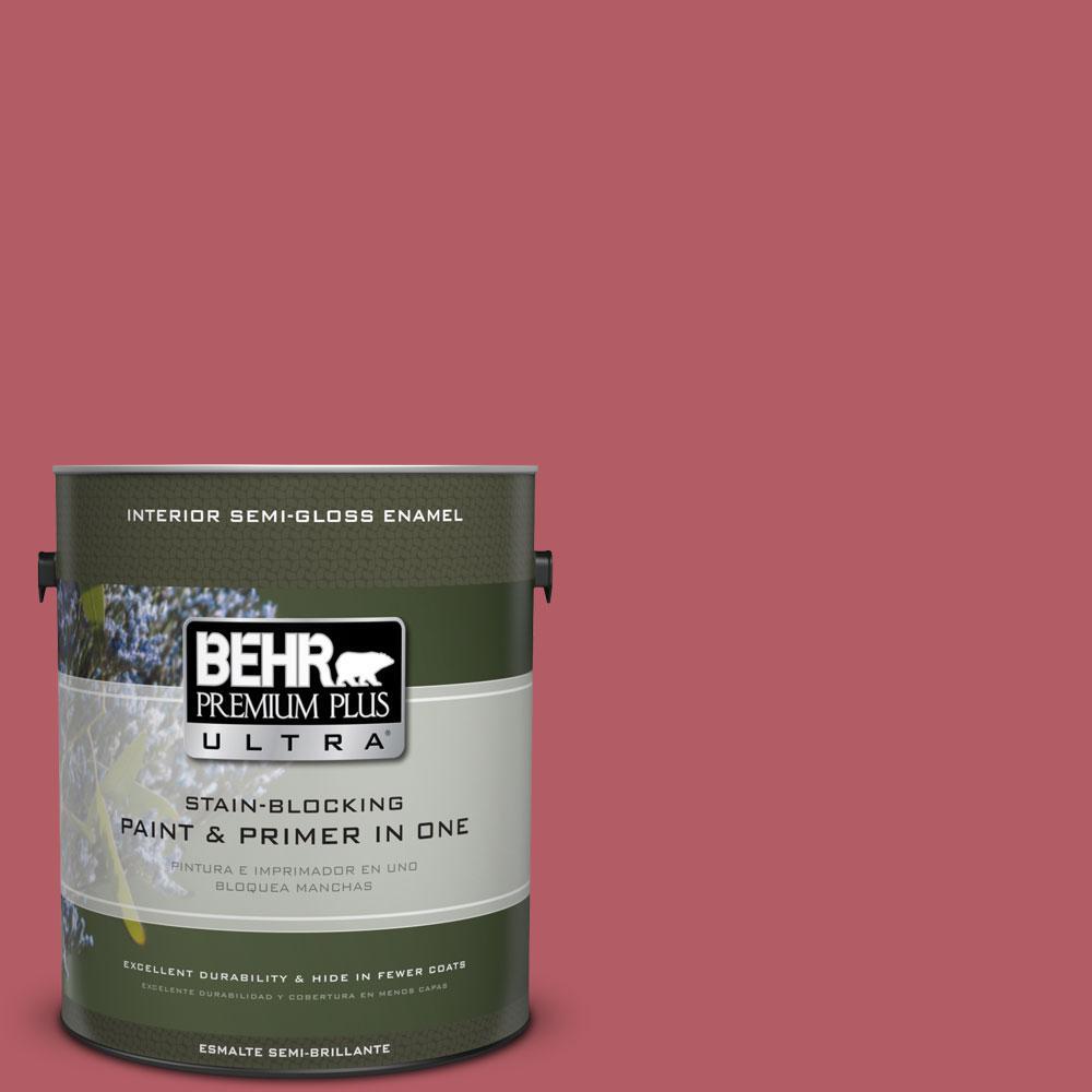 1-gal. #BIC-33 Cinnamon Candle Semi-Gloss Enamel Interior Paint