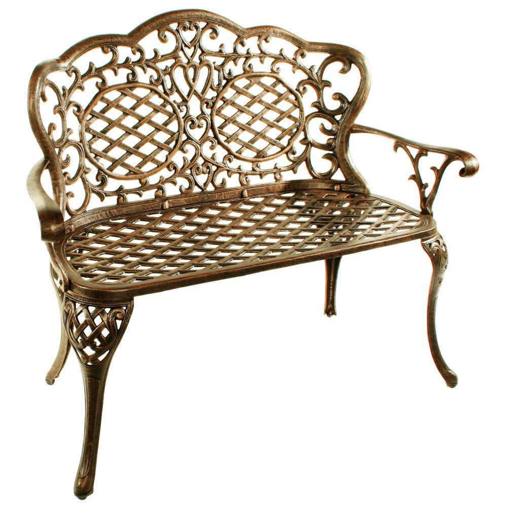 Tremendous Cast Iron Aluminum Patio Bench Patio Ideas Creativecarmelina Interior Chair Design Creativecarmelinacom