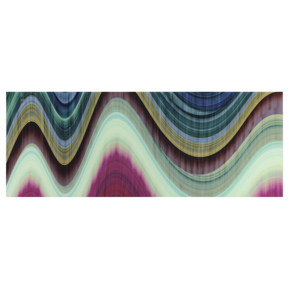 63 in. x 24 in. ''Rumba Abstract 1'' Frameless Free Floating