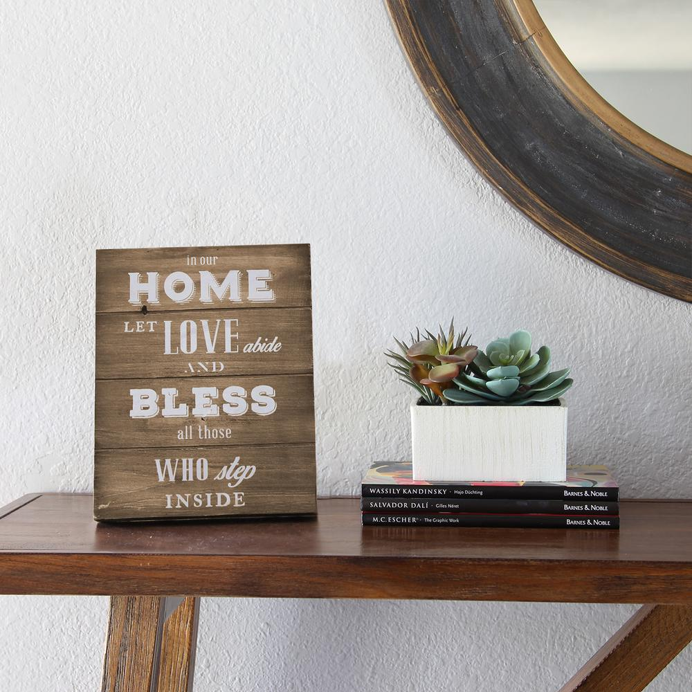 stratton home decor in our home let love abide and bless all those inside table top s07696 the home depot