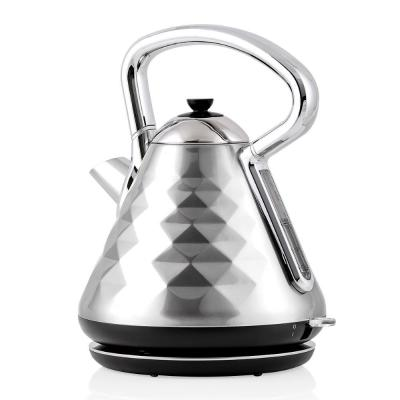 7.1-Cup Silver Electric Kettle with Boil-Dry Protection and Auto Shut-Off, Cleo Collection (KS755BR)
