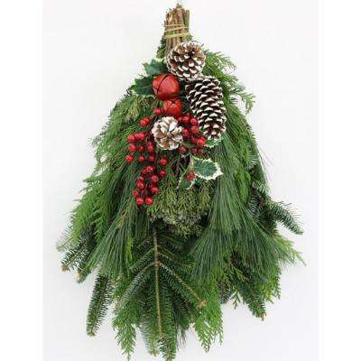 16 in. Fresh Mixed Christmas Celebration Evergreen Swag