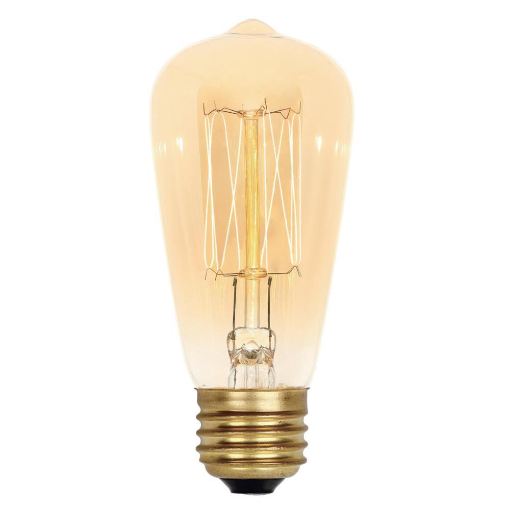 globe electric 40w amber designer vintage edison diamante incandescent light bulb 84644 the. Black Bedroom Furniture Sets. Home Design Ideas