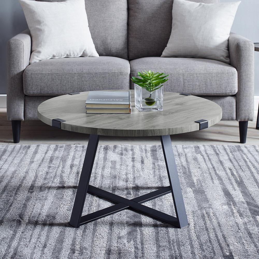 Furniture Corp: Walker Edison Furniture Company 30 In. Slate Gray Rustic