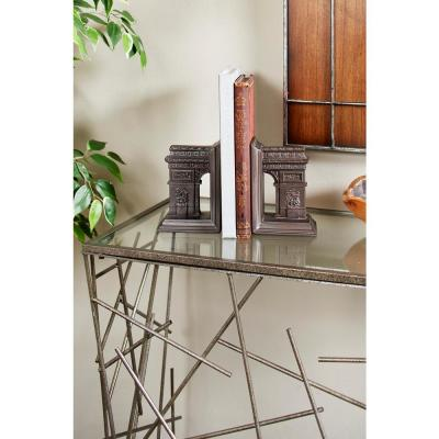 Dark Brown Arc De Triomphe Bookends