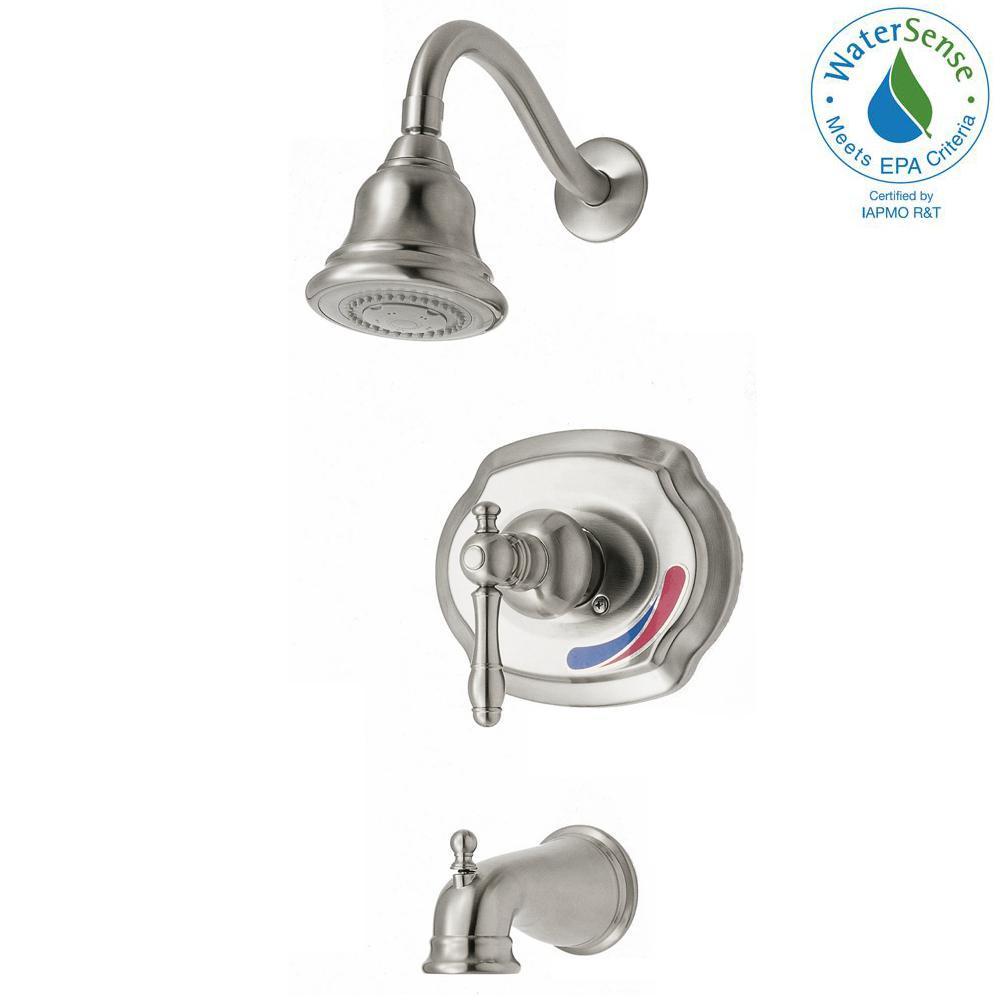 Glacier Bay Lyndhurst WaterSense Single-Handle 1-Spray Tub and ...