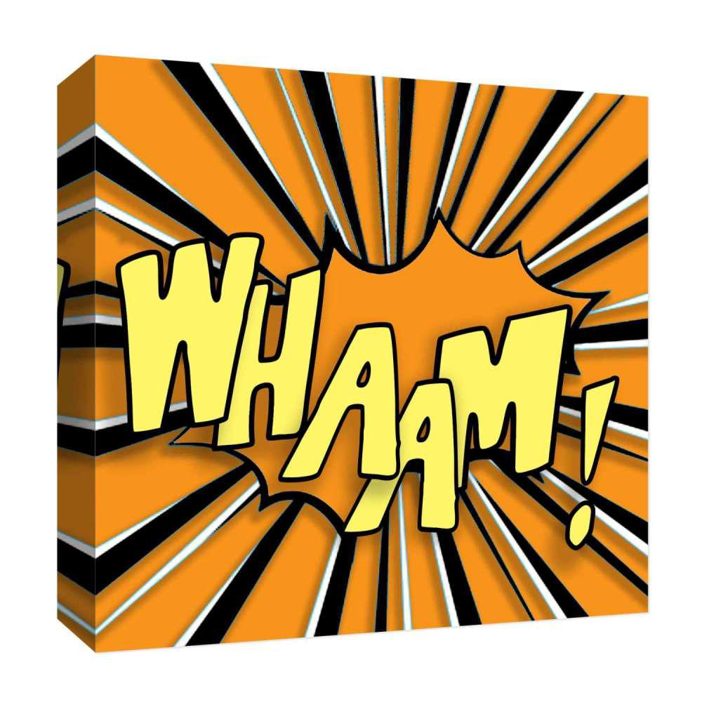 PTM Images 15 in. x 15 in. \'\'Whaam!\'\' By PTM Images Printed Canvas ...