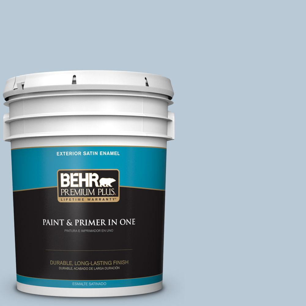 5 gal. #PPU14-15 Denim Light Satin Enamel Exterior Paint