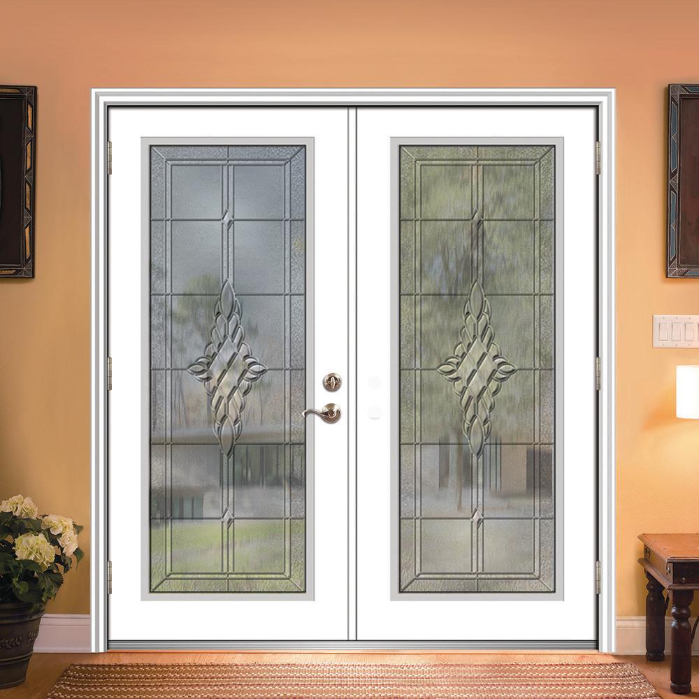 Mmi Door 68 In X 80 In Grace Right Hand Inswing Full Lite Decorative Primed Fiberglass Prehung Front Door On 6 9 16 In Frame Z03656845r The Home Depot