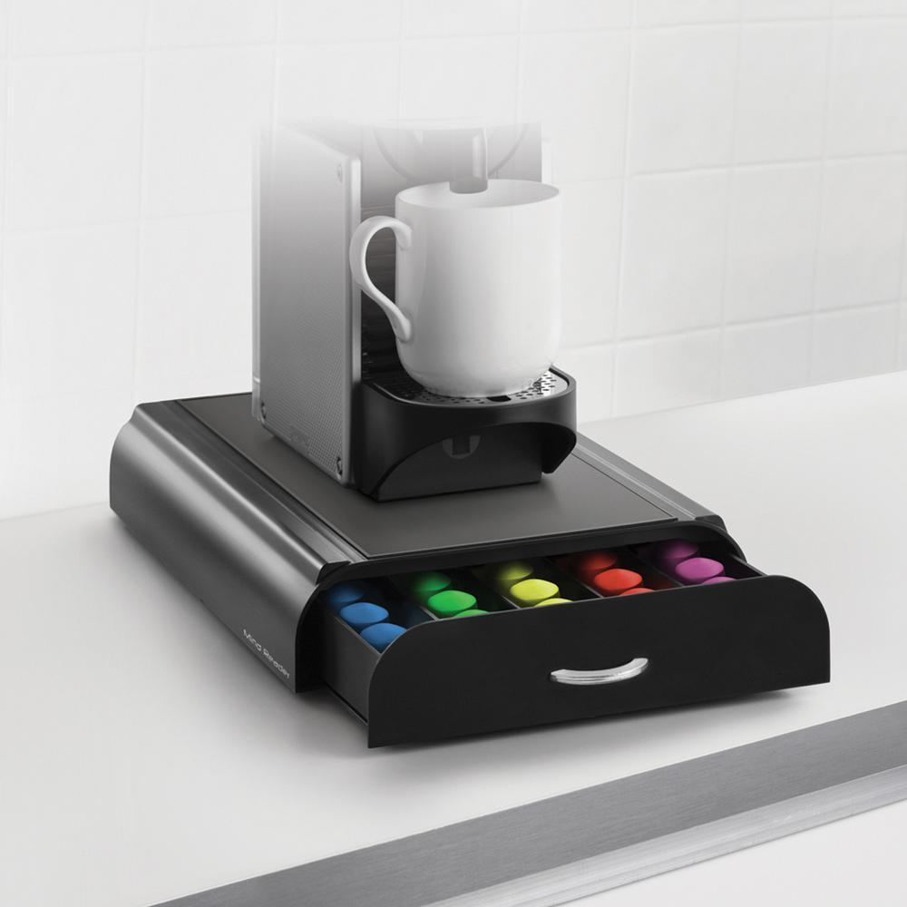 Mind Reader Anchor 50 Capacity Nespresso Capsule Drawer In Black
