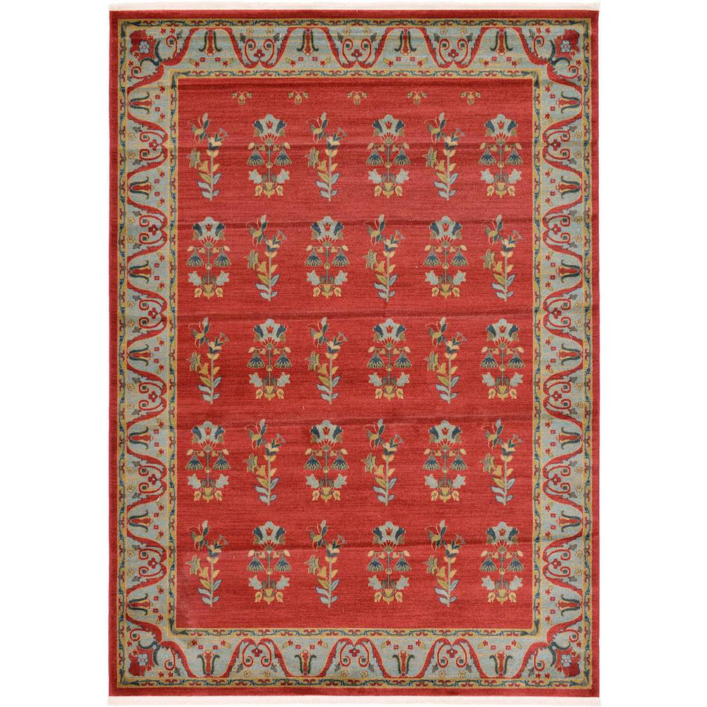Red 7 ft. x 10 ft. Nomad Area Rug