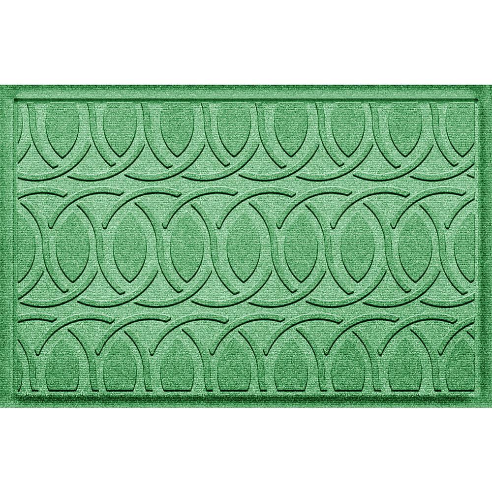Aldine Light Green 24 in. x 36 in. Polypropylene Door Mat