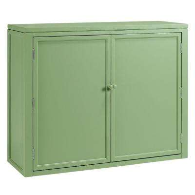 42 in. W Craft Space Storage Hutch in Rhododendron Leaf