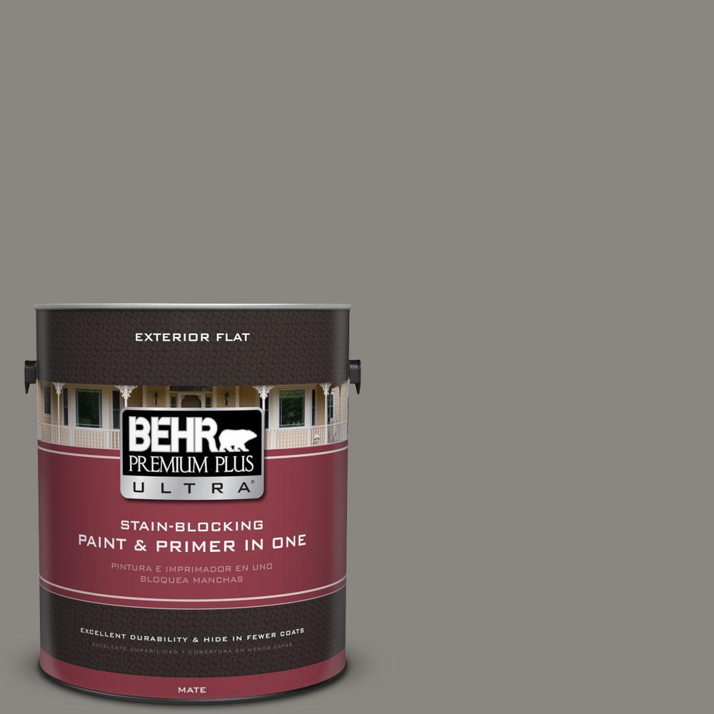BEHR Premium Plus Ultra Home Decorators Collection 1-gal. #HDC-NT-23 Wet Cement Flat Exterior Paint