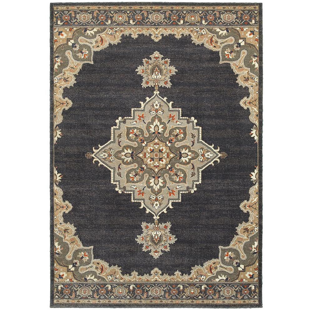 Home decorators collection jameson navy 5 ft 3 in x 7 ft Home decor rugs