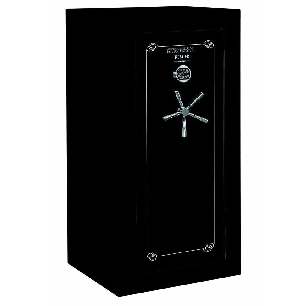 Stack-On 32 Gun with Door Storage, Electronic Lock - High Gloss Black-DISCONTINUED