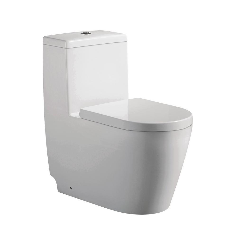 Jade Bath Giselle 1-Piece 0.88/1.28 GPF Dual Flush Elongated Toilet ...
