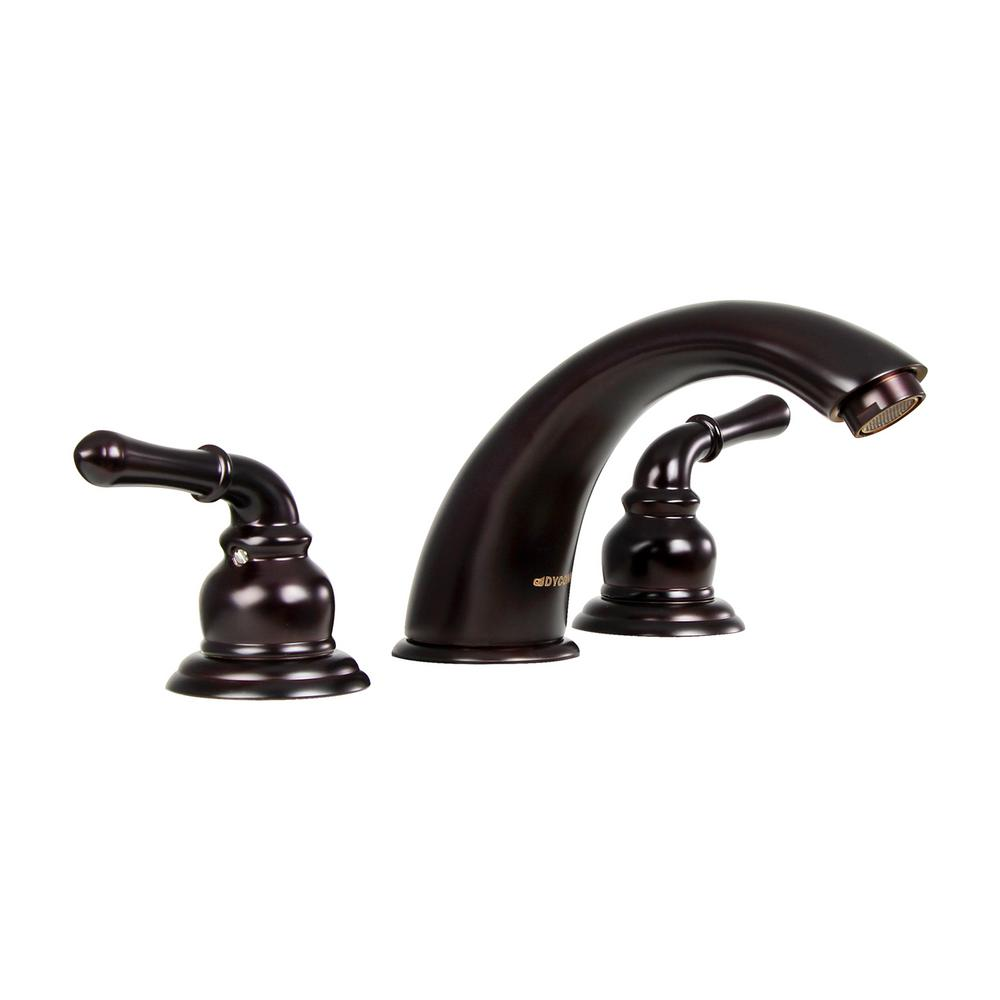 Widespread 2-Handle Low-Arc Bathroom Faucet in Polished