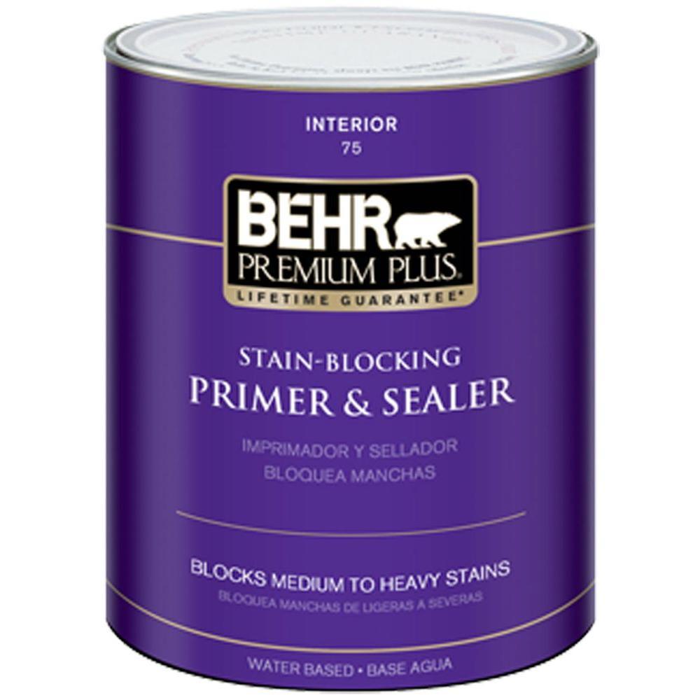 BEHR Premium Plus 1-qt. Stain-Blocking Interior Primer and Sealer