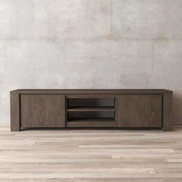 Urban Woodcraft Everdeen 71 in. Salvaged Espresso TV Stand 600H.71EU.TC2.E