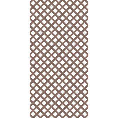 4 ft. x 8 ft. Acorn Brown Traditional Vinyl Lattice (2-Pack)