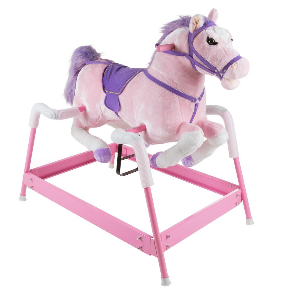 Happy Trails Plush Pink Rocking Spring Holly Horse M400006