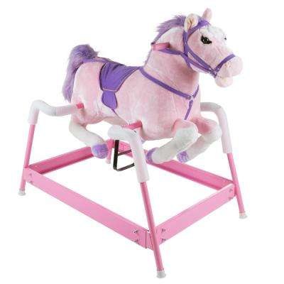 Plush Pink Rocking Spring Holly Horse
