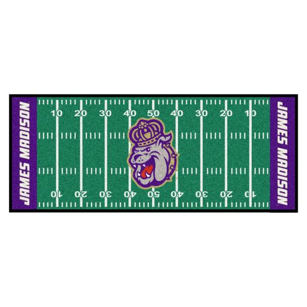 NCAA James Madison University 2.5 ft. x 6 ft. Football Field Runner Rug