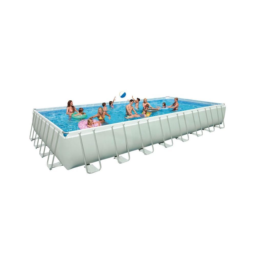 Intex 32 ft. x 16 ft. Rectangular x 52 in. Deep Pool Set