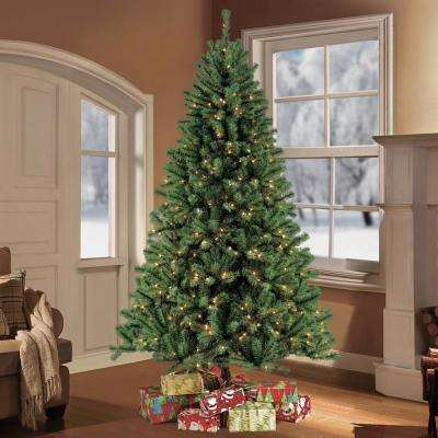 7.5 ft. Pre-Lit Northern Fir Artificial Christmas Tree with 600 Clear Lights
