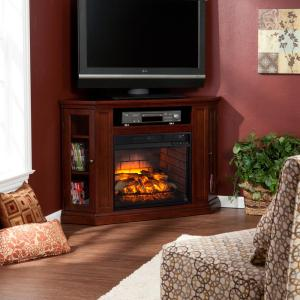 Hudson 48 inch W Convertible Media Infrared Electric Fireplace in Cherry by