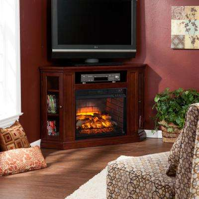 Hudson 48 in. W Convertible Media Infrared Electric Fireplace in Cherry