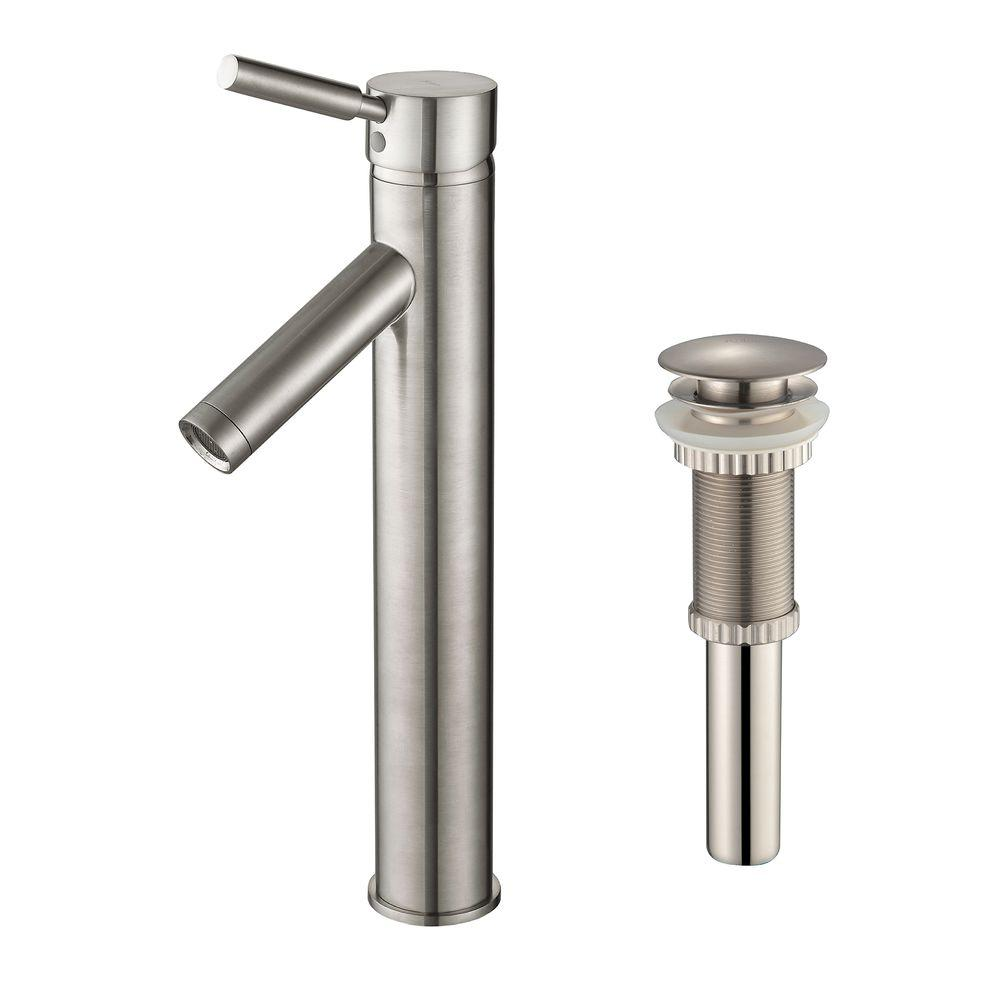 KRAUS Sheven Single Hole Single-Handle Vessel Bathroom Faucet with ...