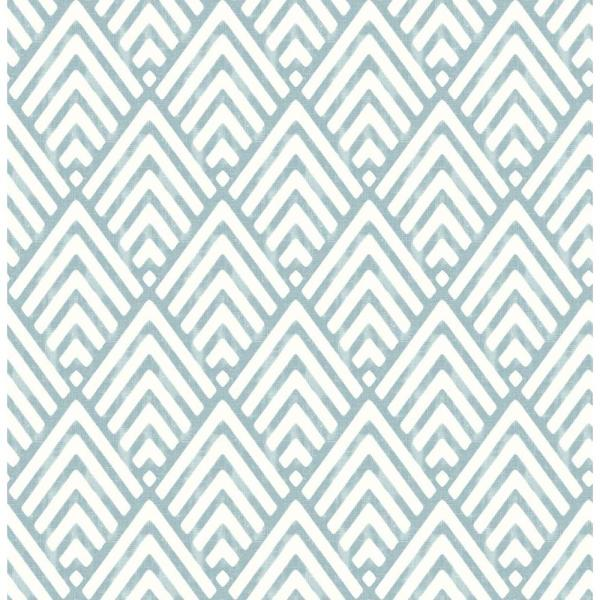 Vertex Blue Diamond Geometric Paper Strippable Roll (Covers 56.4 sq. ft.)