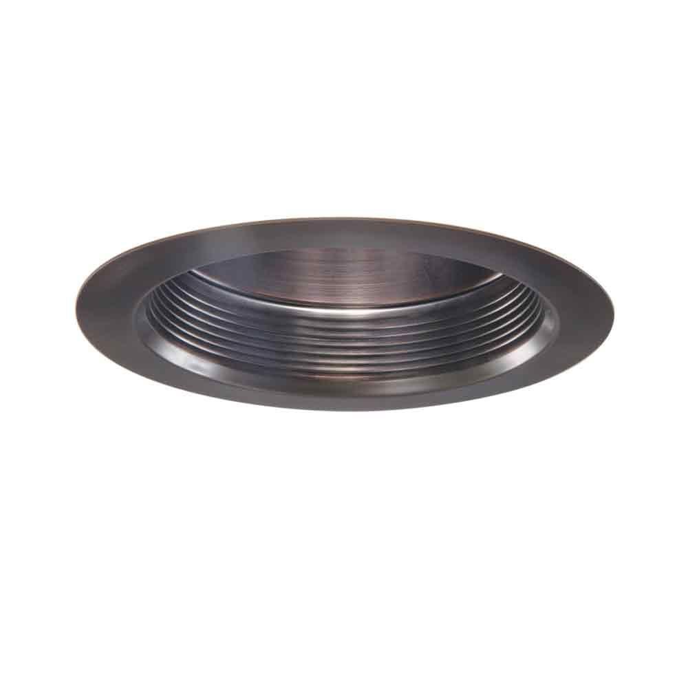 6 in. Tuscan Bronze Recessed Ceiling Light Air-Tite Baffle Super Trim