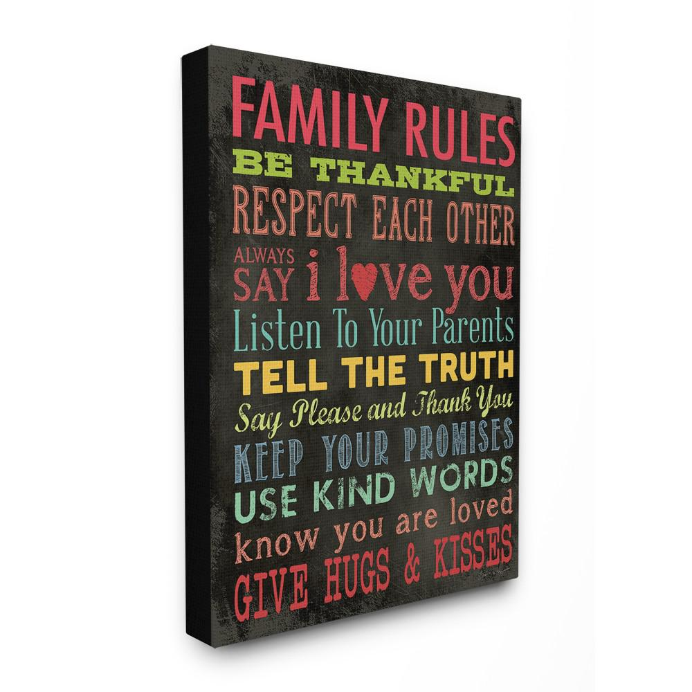 Family rules chalkboard style by
