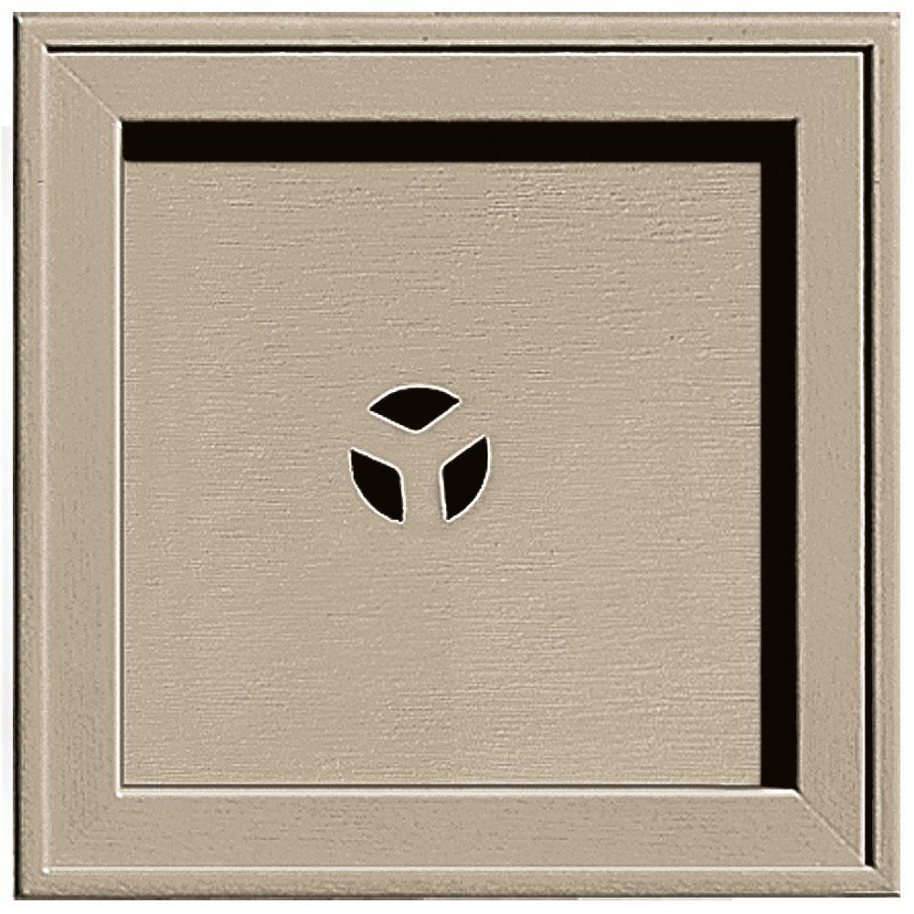 Builders Edge 7.75 in. x 7.75 in. #085 Clay Recessed Square Universal Mounting Block