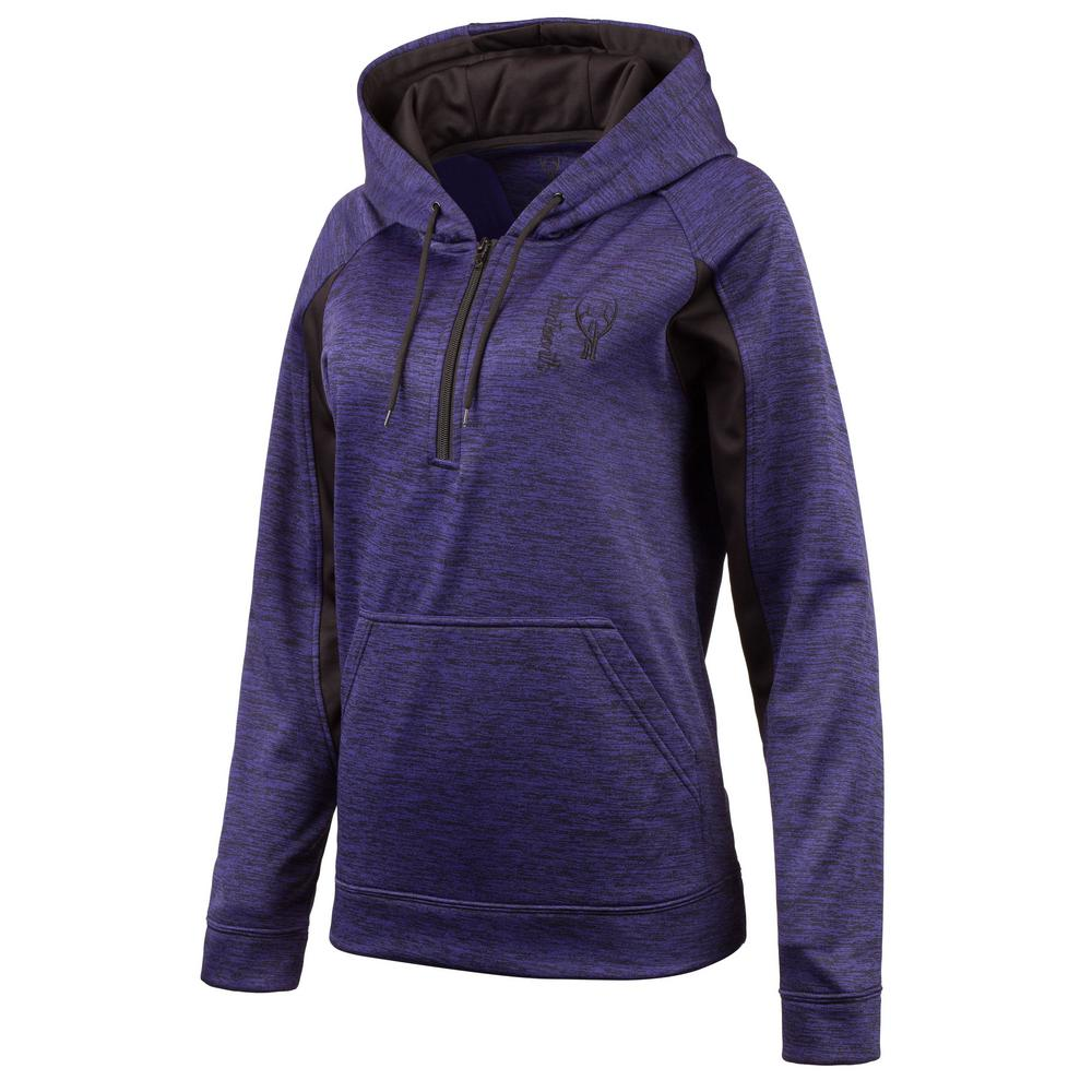 41fffab5 HUNTWORTH HUNTWORTH Women's Medium Heather Violet / Black Hooded Pullover