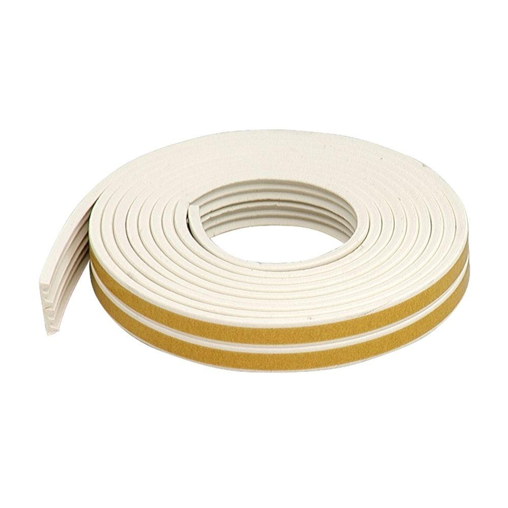 M-D Building Products Premium 3/8 in. x 17 ft. White Weatherstrip for Extra Small Gaps (10-Year)