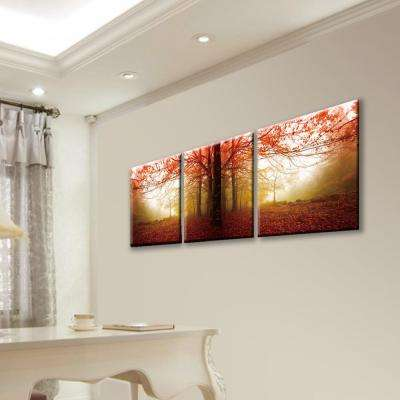 "20 in. x 60 in. ""Autumn Leaves"" Printed Acrylic Wall Art"