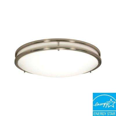 Bertha 3-Light Brushed Nickel Flushmount