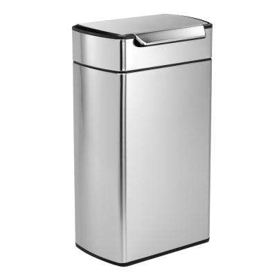 40-Liter Fingerprint-Proof Brushed Stainless Steel Touch Bar Trash Can