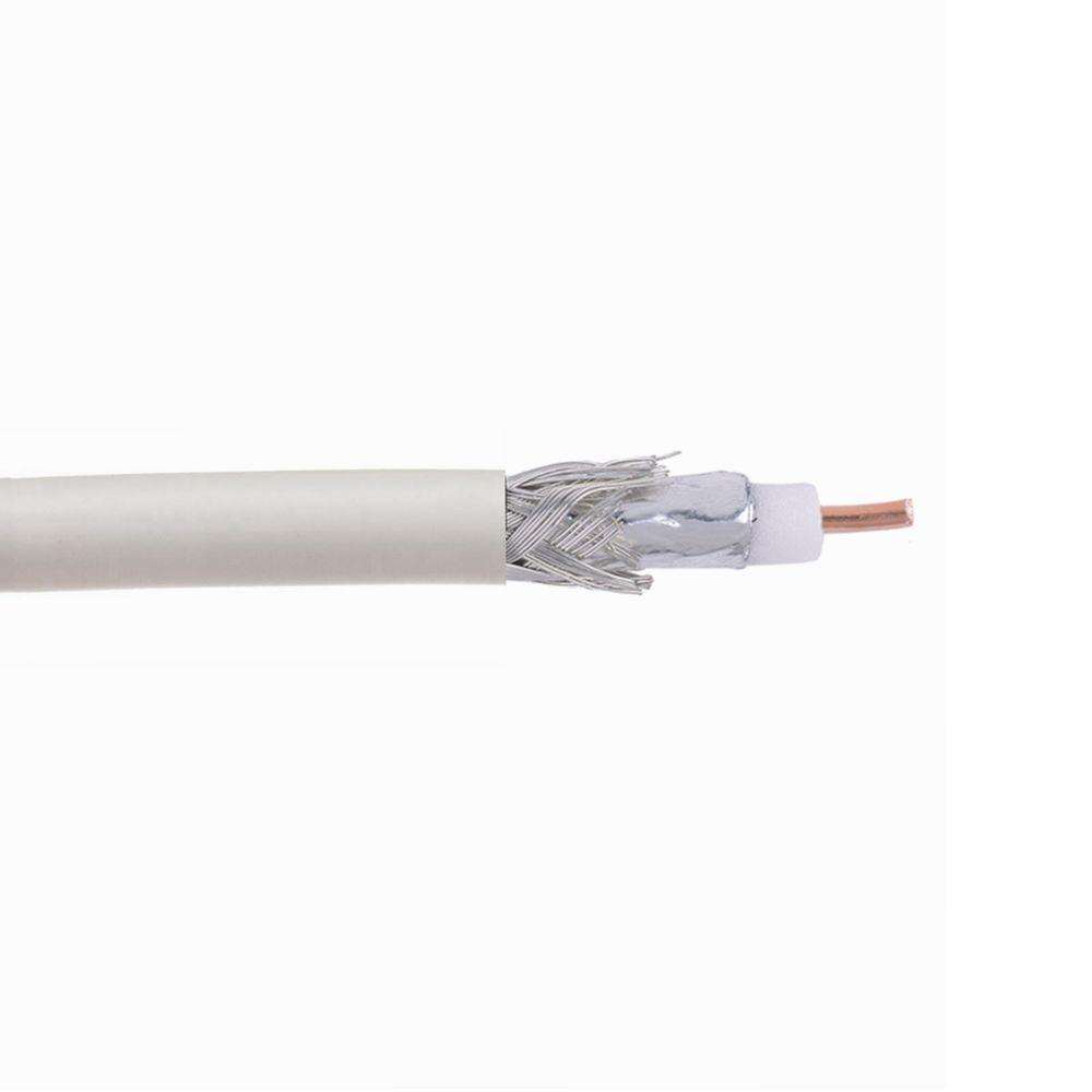 Digiwave 500 ft. White RG59 Coaxial Cable with 90 Percentage Braid