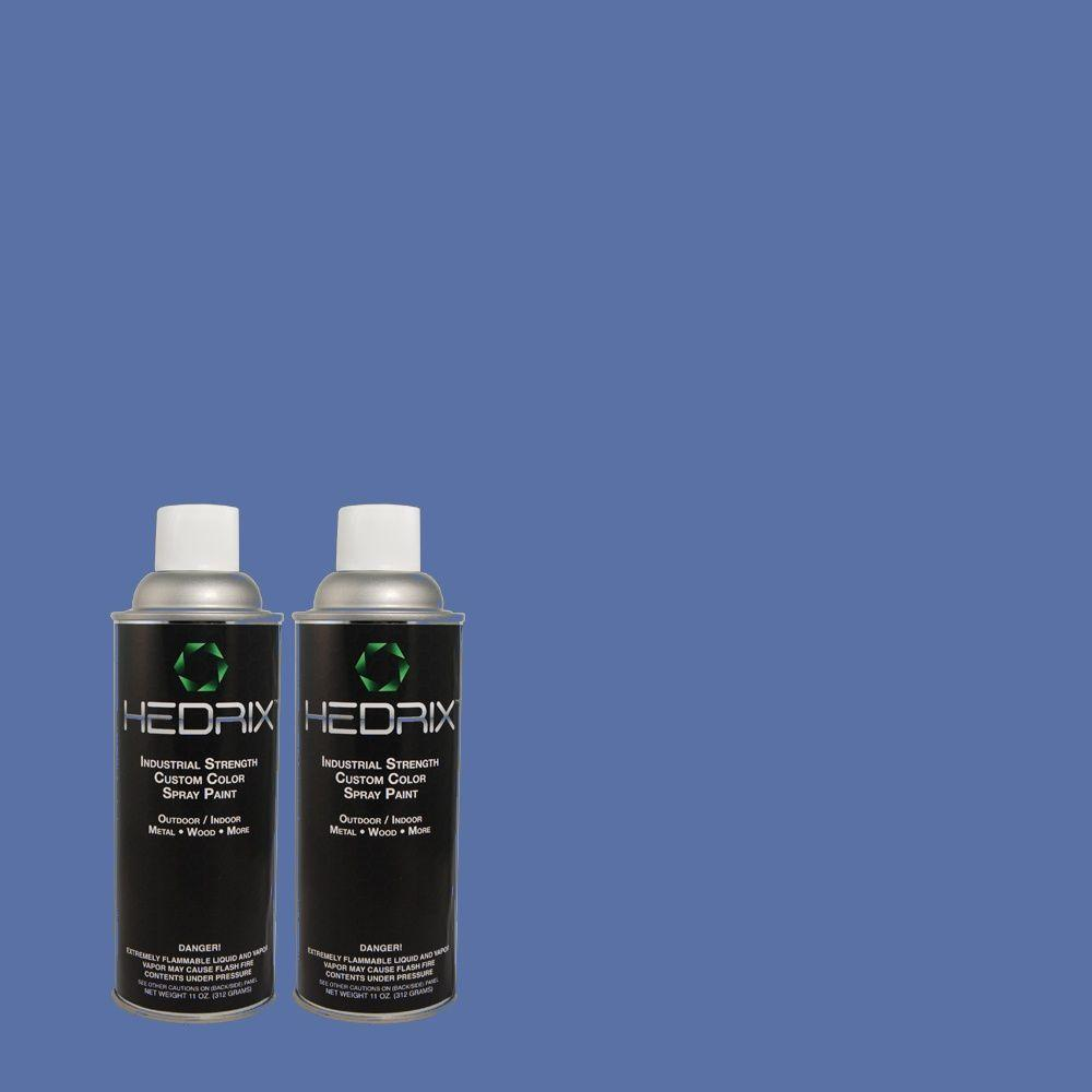 Hedrix 11 oz. Match of MQ4-24 Electric Blue Semi-Gloss Custom Spray Paint (2-Pack)