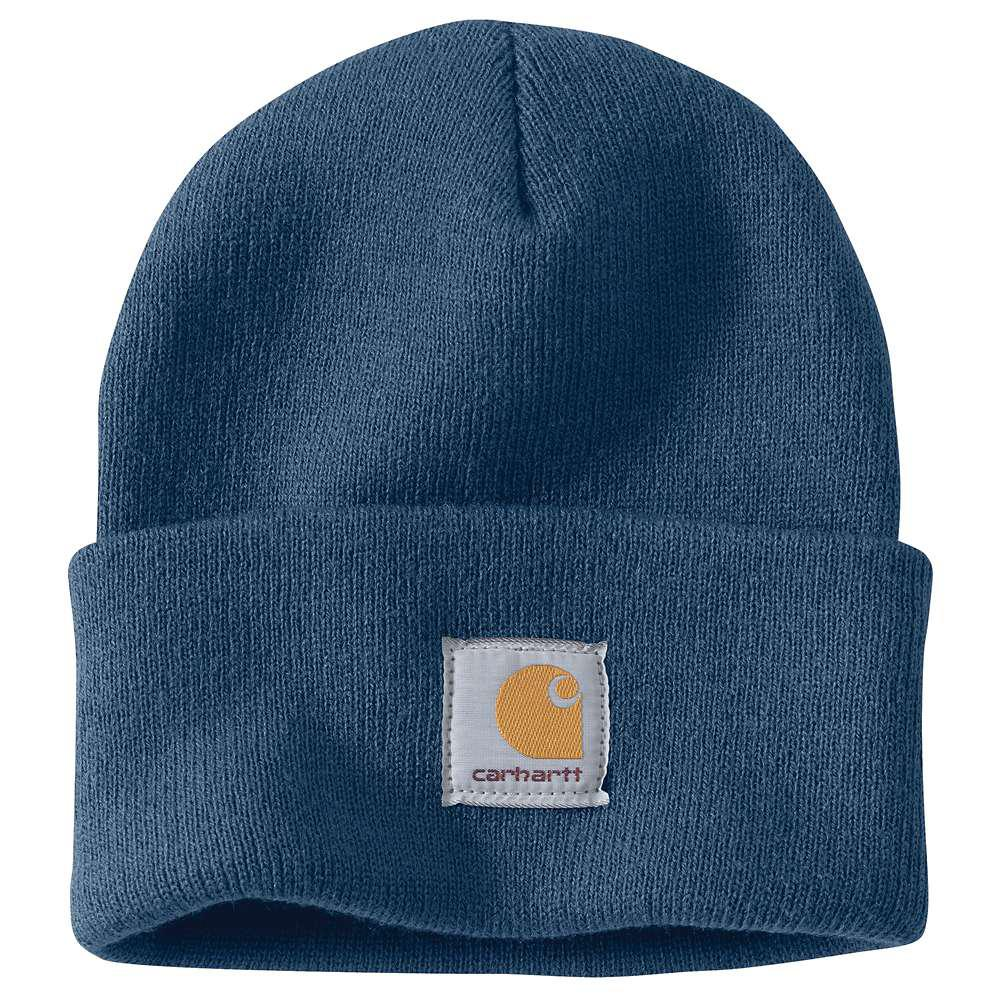 Carhartt Men s OFA Dark Blue Acrylic Hat Headwear-A18-DBL - The Home ... 5f8724321dc