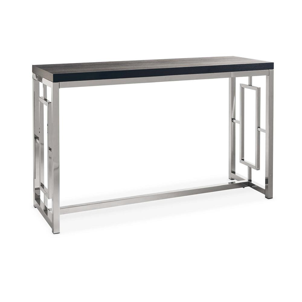 Harper Black/Chrome Sofa Table
